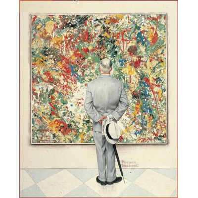 Puzzle Pomegranate-AA651 Norman Rockwell : The Connoisseur