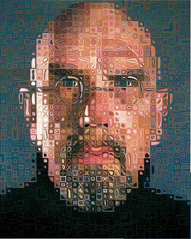 Puzzle Pomegranate-AA673 Chuck Close - self-portrait