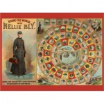 Pomegranate-AA741 World Tour with Nellie Bly - 300 pieces Puzzle+ Board Game (English)