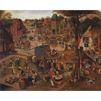 Puzzle Pomegranate-AA773 Pieter Bruege the young: A village festival