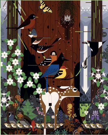 Puzzle Pomegranate-AA775 Charley Harper : The Sierra Range