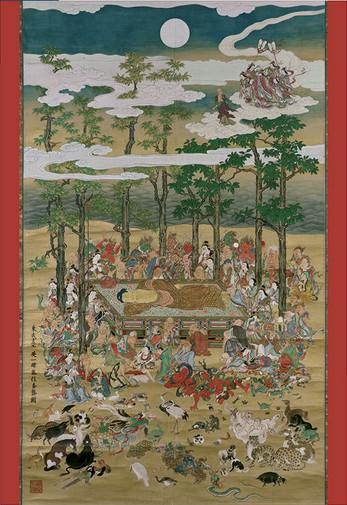 Puzzle Pomegranate-AA801 Hanabusa Itcho: Buddha in Nirvana