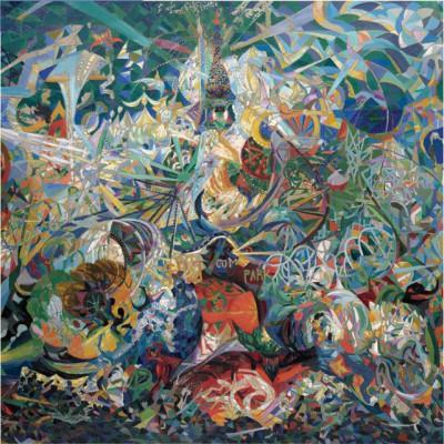 Puzzle Pomegranate-AA808 Joseph Stella: Battle of Enlightenment, Coney Island