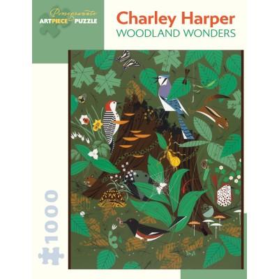 Puzzle Pomegranate-AA907 Charley Harper - Woodland Wonders, 1977