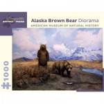Puzzle  Pomegranate-AA940 Alaska Brown Bear Diorama - American Museum of Natural History