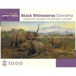 Puzzle   Black Rhinoceros Diorama - Northwestern Slope of Mount Kenya, Kenya