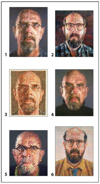 Puzzle Pomegranate-PB003 Chuck Close - 12 cubes for six self-portraits