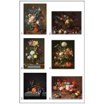 Puzzle  Pomegranate-PB008 Dutch Artists Painters - 12 cubes for six artworks