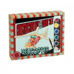 Professor-Puzzle-PS1196 3D Wooden Jigsaw Puzzle with Paint Set - Helicopter