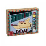 Professor-Puzzle-PS1197 3D Wooden Jigsaw Puzzle with Paint Set - Boat