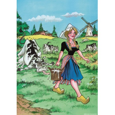 Puzzle PuzzelMan-028 Rooie Oortjes: The Milkmaid