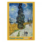 PuzzelMan-089 Jigsaw Puzzle - 1000 Pieces - Van Gogh : Road with Cypresses