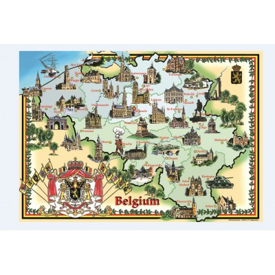 PuzzelMan-094 Jigsaw Puzzle - 1000 Pieces - Belgium