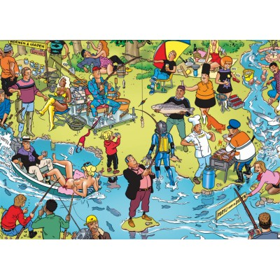 PuzzelMan-119 Jigsaw Puzzle - 1000 Pieces - Fishing