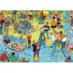 PuzzelMan-119 Jigsaw Puzzle - 1000 Pieces - Fishing