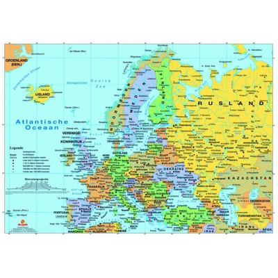 PuzzelMan-123 Jigsaw Puzzle - 1000 Pieces - Map of Europe
