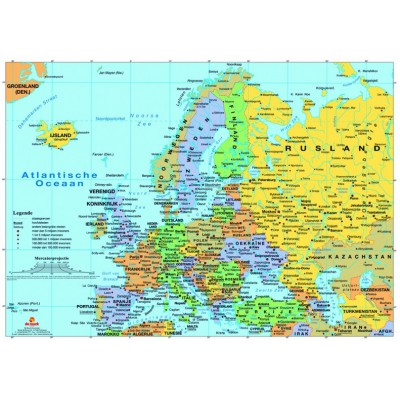 PuzzelMan-125 Jigsaw Puzzle - 99 Pieces - Map of Europe