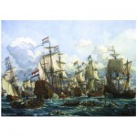 PuzzelMan-128 Jigsaw Puzzle - 1000 Pieces - Storck : The Royal Prince and other Vessels at the Four Days Battle