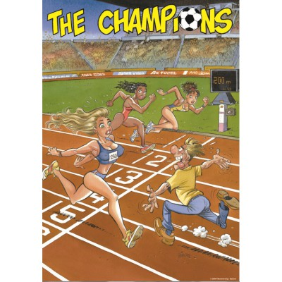 PuzzelMan-152 Jigsaw Puzzle - 1000 Pieces - The Champion : The 200 Meters Finish