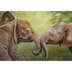 Puzzle  PuzzelMan-235 Nico Bulder: Baby Elephants