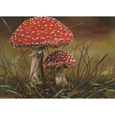 Puzzle PuzzelMan-236 Nico Bulder: Mushrooms