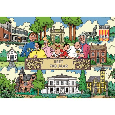 Puzzle PuzzelMan-282 Bob and Bobette : 700 years on Reet