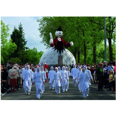 Puzzle PuzzelMan-372 Belgium: Ypres, Procession of Cats