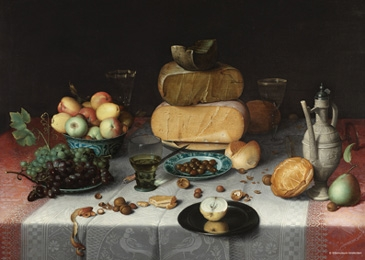 Puzzle PuzzelMan-389 Collection Rijksmuseum Amsterdam - Floris van Dyck - dead Nature cheese