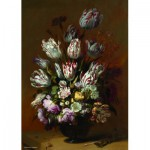 Puzzle  PuzzelMan-390 Collection Rijksmuseum Amsterdam - Bollongier: Dead Nature , tulips