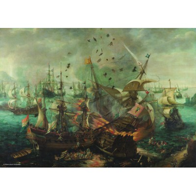 Puzzle PuzzelMan-392 Collection Rijksmuseum Amsterdam - Van Wieringen: Naval Battle