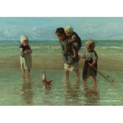 Puzzle PuzzelMan-393 Collection Rijksmuseum Amsterdam - J. Israels: Children to the Sea