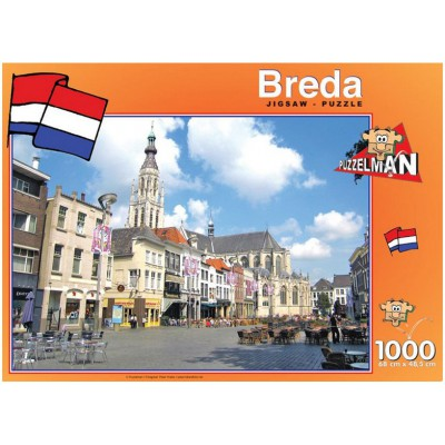 Puzzle PuzzelMan-426 Netherlands, Breda: Church of Our Lady