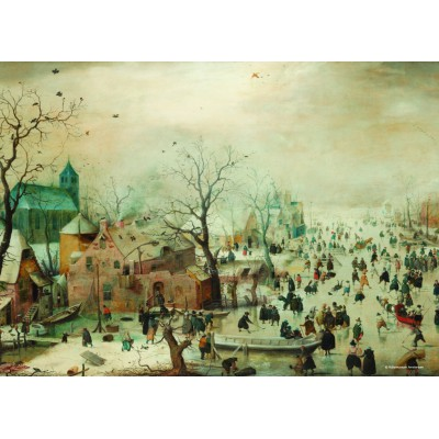 Puzzle PuzzelMan-471 Collection Rijksmuseum Amsterdam - Hendrick Avercamp: Winter ( mini pieces)