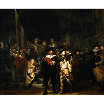 Puzzle PuzzelMan-472 Collection Rijksmuseum Amsterdam - Rembrandt: The Night Watch