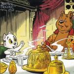 Puzzle  PuzzelMan-521 Marten Toonder - Mr. Bommel: Dinner