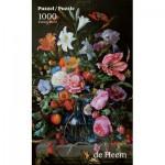 Puzzle  PuzzelMan-760 De Heem: Vase with Flowers