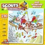 Puzzle  Puzzelman-814 Scouts & Squirrels - Suspension bridge