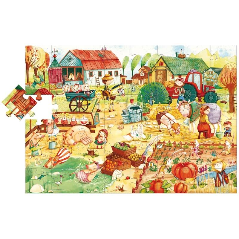 Floor puzzle farmyard friends ludattica 52479 48 pieces jigsaw puzzles fa - Parquet piece humide ...