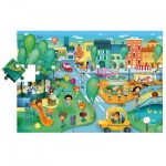 Ludattica-49806 Floor Puzzle - City