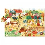 Ludattica-52479 Floor Puzzle - Farmyard Friends