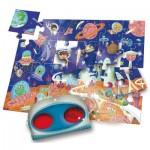 Ludattica-52493 XXL Pieces - Secret Puzzle: The Space