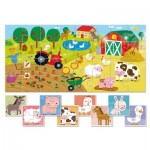 Ludattica-58198 XXL Pieces - 9 Baby Puzzles - The Farm