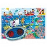 Ludattica-58228 XXL Pieces - Secret Puzzle: The Sea
