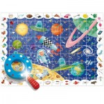 Ludattica-58266 XXL Jigsaw Puzzle - Baby Détective: The Space