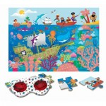 Ludattica-74792 XXL Pieces - Secret Puzzle - Sea