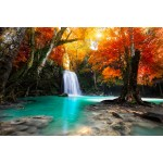 Grafika-Wood-00013 Wooden Jigsaw Puzzle - Deep Forest Waterfall