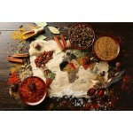 Grafika-Wood-00014 Wooden Jigsaw Puzzle - World map in Spices