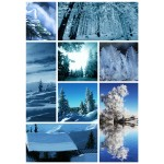 Grafika-Wood-00018 Wooden Jigsaw Puzzle - Winter Collage