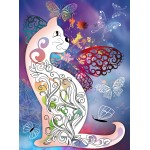 Grafika-Wood-00025 Wooden Jigsaw Puzzle - The Cat with the Butterflies
