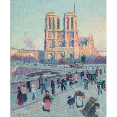 Puzzle-Michele-Wilson-A045-250 Hand-Cut Wooden Puzzle - Maximilien Luce - Notre Dame